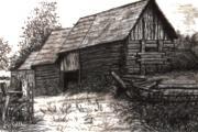 Dunchurch Farm Print by Wanda Kightley