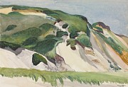 Massachusetts Coast Paintings - Dune at Truro by Edward Hopper