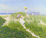 Parasols Paintings - Dune Pass  by Candace Lovely