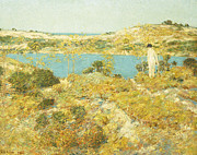Fine American Art Framed Prints - Dune Pool Framed Print by Childe Hassam