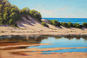Sand Dunes Painting Framed Prints - Dune Reflections Framed Print by Graham Gercken