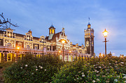 Street Lights Prints - Dunedin Railway Station Print by Colin and Linda McKie