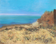 Cape Cod Paintings - Dunes Along Cape Cod Bay by Viola Holmgren