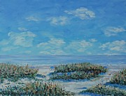 Sand Dunes Paintings - Dunes and Beach - Hilton Head by Stanton Allaben