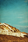 North Sea Mixed Media Prints - Dunes and blue Sky II Print by Angela Doelling AD DESIGN Photo and PhotoArt