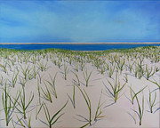 Sand Dunes Paintings - Dunes at Lighthouse Beach by Sue Birkenshaw