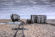 Boat Shed Prints - Dungeness beach Print by Ian Hufton