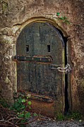 Hinges Prints - Dungeon Door Print by Joan Carroll