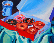 Donuts Painting Originals - Dunkin Donuts by Sean Boyce