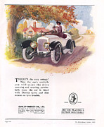 Tires Drawings Posters - Dunlop 1919 1910s Uk Cars Tyres Poster by The Advertising Archives