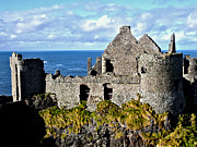 Normans Framed Prints - Dunluce Castle Framed Print by Nina Ficur Feenan