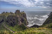 Rocky Outcrops Posters - Dunnottar Castle and the Scotland Coast Poster by Jason Politte
