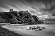 Monochrome Prints - Dunnottar Castle II Print by David Bowman