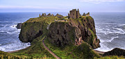 Rocky Outcrops Framed Prints - Dunnottar Castle Panorama Framed Print by Jason Politte