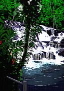 Dunns River Falls Jamaica Print by Colin Tresadern