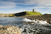 Embleton Prints - Dunstanburgh Castle with sea Print by David Head