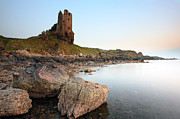 Ruin Photo Prints - Dunure Castle Print by Grant Glendinning
