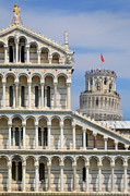 Leaning Building Photos - Duomo and Campanile by Inge Johnsson