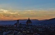 Tuscan Sunset Framed Prints - Duomo at sunset Framed Print by Rebecca Robinson