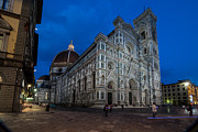 San Rafael Church Prints - Duomo di Firenze in the Evening Print by Arnaldo Torres