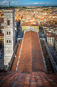 Florence Framed Prints - Duomo from Above Framed Print by Inge Johnsson