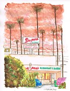 Restaurant Signs Paintings - Dupars Restaurant in Studio City - California by Carlos G Groppa