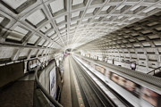 Tunnels Framed Prints - Dupont Circle Station Framed Print by Susan Candelario