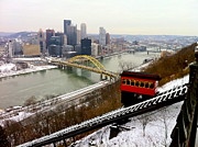 Duquesne Incline Posters - Duquesne Incline Poster by Denise Mazzocco