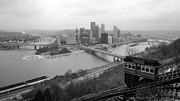 Duquesne Incline Metal Prints - Duquesne Incline Pittsburgh Metal Print by Matt Shiffler