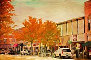 Cityscapes Digital Art Prints - Durango Autumn Print by Jeff Kolker