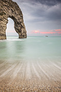 Weymouth Bay Posters - Durdle Door Archway Poster by Chris Frost