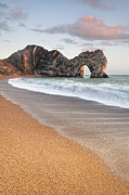 Weymouth Bay Posters - Durdle Door Breakers Poster by Chris Frost