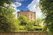 Spring Trees Prints - Durham Castle Durham City Print by Colin and Linda McKie