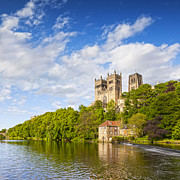 Wear Framed Prints - Durham Cathedral and the River Wear England Framed Print by Colin and Linda McKie