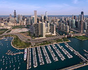 Michigan Art - DuSable Harbor Chicago by Steve Gadomski