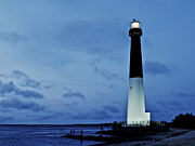Barnegat Inlet Prints - Dusk at Barnegat Lighthouse Print by Mark Miller