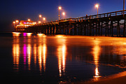 James Kirkikis Art - Dusk at Newport Pier by James Kirkikis