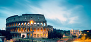 Long Street Framed Prints - Dusk at the Colosseum Framed Print by Matteo Colombo