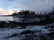 Sleet Photos - Dusk at the Cove by Melissa Peterson