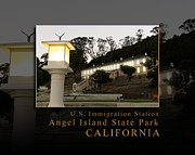 China Cove Prints - Dusk in China Cove - USIS - United States Immigration Station Angel Island State Park California Print by David Rigg