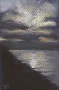 Grey Clouds Pastels - Dusk by Nina Shilling