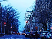 City Scenes Art - Dusk on Broadway by Sarah Loft