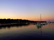 Vineyard Haven Prints - Dusk on the Harbor Print by CapeScapes Fine Art  Photography