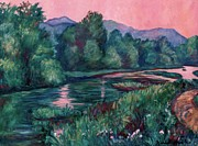 Dusk On The Little River Print by Kendall Kessler