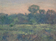 Gregory Arnett Painting Framed Prints - Dusk on the Meadow Framed Print by Gregory Arnett