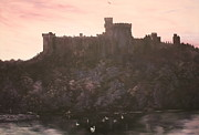 London Painting Originals - Dusk over Windsor Castle by Jean Walker