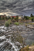 Spokane Framed Prints - Dusk river site Framed Print by Dan Quam