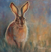 Wild Rabbit Posters - Dusk Poster by Theresa Paden