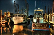 Shrimp Boat Prints - Dusk to Dawn at Dawn Print by Michael Thomas