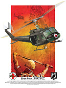 Vietnam Air War Art Metal Prints - Dust Off Metal Print by Kenneth De Tore